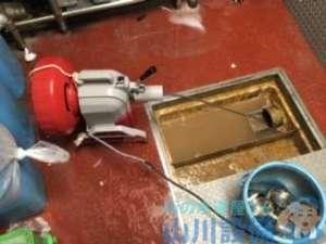 大阪府大阪市中央区南船場  厨房グリストラップ排水つまり修理  ドレンクリーナー