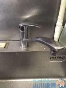 大阪府松原市天美西  厨房混合水栓故障修理  蛇口水漏れ修理