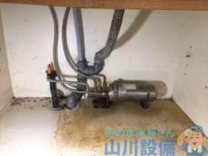 大阪府門真市桑才  給茶器排水管つまり修理  ドレンクリーナー