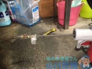 兵庫県尼崎市東園田町  厨房排水管つまり修理  排水ホース水漏れ修理  ドレンクリーナー