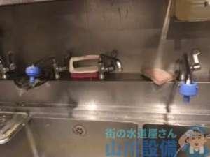 大阪府泉佐野市りんくう往来南  厨房蛇口水漏れ修理  蛇口交換