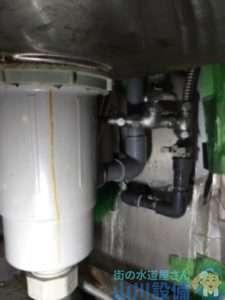 京都府京都市左京区田中門前町 厨房シンクフレキ管水漏れ修理 蛇口交換