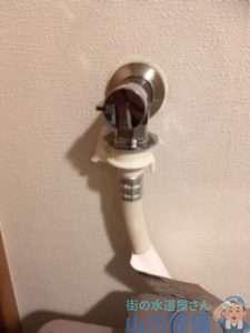 大阪府枚方市香里ヶ丘  洗濯機水栓水漏れ修理  水栓交換