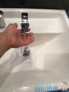 大阪府東大阪市長堂  トイレ内手洗い排水つまり修理  ドレンクリーナー