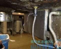 厨房内の水漏れ修理を高石市西取石まで行ってきました。原因は給湯フレキ管の巻。追加作業あり。