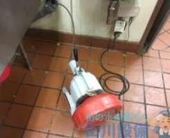 大阪市此花区島屋で前回のアドバイスを実行しない結果4ヶ月で排水管詰まりを再発させたお店での今後の対策は…