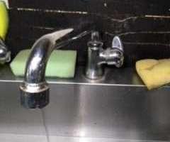 大阪府大阪市福島区福島 厨房洗い場水栓水漏れ修理