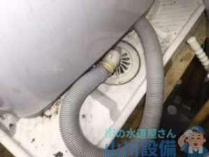 ほとんどの洗濯機排水つまりって排水トラップを掃除したら直りますの巻、八尾市光町編