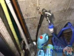 大阪市西区境川の店舗で水道トラブル発生、漏水修理依頼