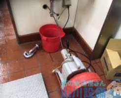 和泉市いぶき野から排水つまり修理の依頼