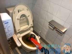 トイレ大便器が詰りで流れない 業者さん助けて!