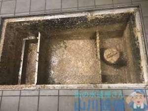 キッチン排水つまり グリストラップから水が溢れてくる