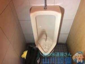 男女トイレ共に奥の方で詰まってる? 小便器と土間排水の詰まり 動画あり