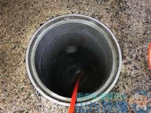 台所排水管つまり気味 高圧洗浄機で排水マスまで