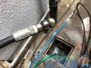 八尾市南亀井町の洗管作業は洗管ホースを使い分けします。山川設備にお任せ下さい。