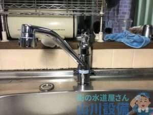 大阪市住之江区新北島でキッチンの混合水栓交換は山川設備にお任せ下さい。