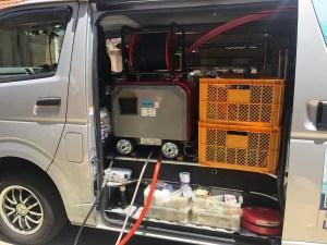東大阪市菱屋東で低騒音ハイパワー高圧洗浄機で洗管作業するなら山川設備にお任せ下さい。