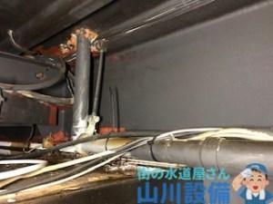 大阪市西区江戸堀で1F天井の排水管が詰まったら山川設備にお任せ下さい。