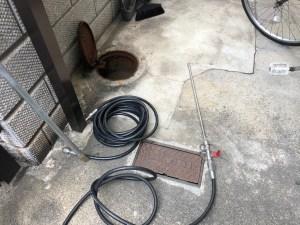 東大阪市三島で排水管の高圧洗浄は山川設備にお任せ下さい。