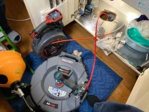 大阪市大正区鶴町で管内カメラとフレックスシャフトでの通管作業は山川設備にお任せ下さい。