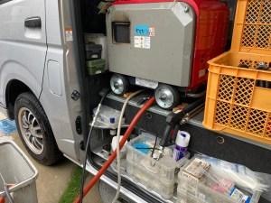 和歌山市関戸で低騒音ハイパワーの高圧洗浄機での洗管作業は山川設備にお任せ下さい。