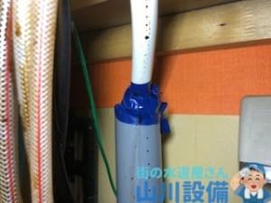 排水管との接続部分はビニールテープグルグル巻きにすると後が厄介です(苦笑)