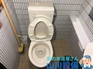 大阪府東大阪市のトイレ詰まりは山川設備がローポンプを使って解消させます。