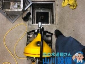 大阪府大阪市西区境川、東大阪市の某回転すし店の排水つまりは山川設備にお任せ下さい。
