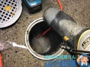 奈良県奈良市大森町で店舗内の洗管作業は山川設備にお任せ下さい。