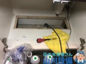 奈良市東向中町でワイヤーを使った通管作業は山川設備にお任せ下さい。