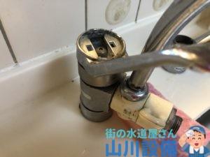 混合水栓のレバーが外れたら山川設備にお任せ下さい。