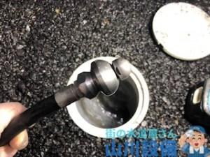 草津市新浜町でヘアピンローターノズルを使った高圧洗浄は山川設備にお任せ下さい。