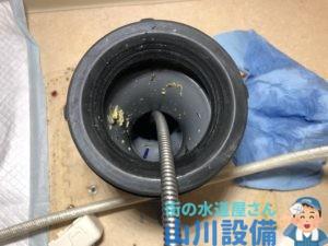 奈良市あやめ池南で10mmワイヤーにグリスカッター37での通管作業は山川設備にお任せ下さい。