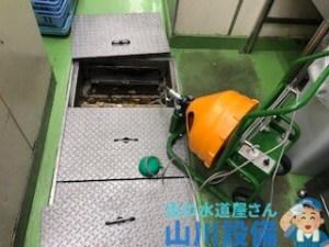 神戸市中央区東川崎町で電動フレキシロッダーCREで通管作業するなら山川設備にお任せ下さい。