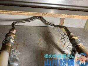 四條畷市岡山東で賃貸マンションのワンホール混合水栓の交換は山川設備にお任せ下さい。