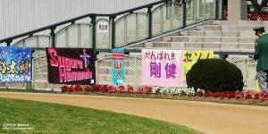京都競馬場の応援幕