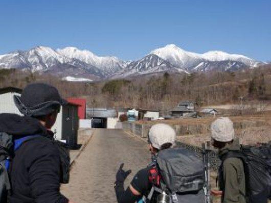 雪山の八ヶ岳がバッチリ