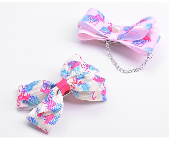 flamingo printed grosgrain ribbon