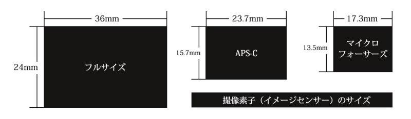 イメージセンサーのサイズ
