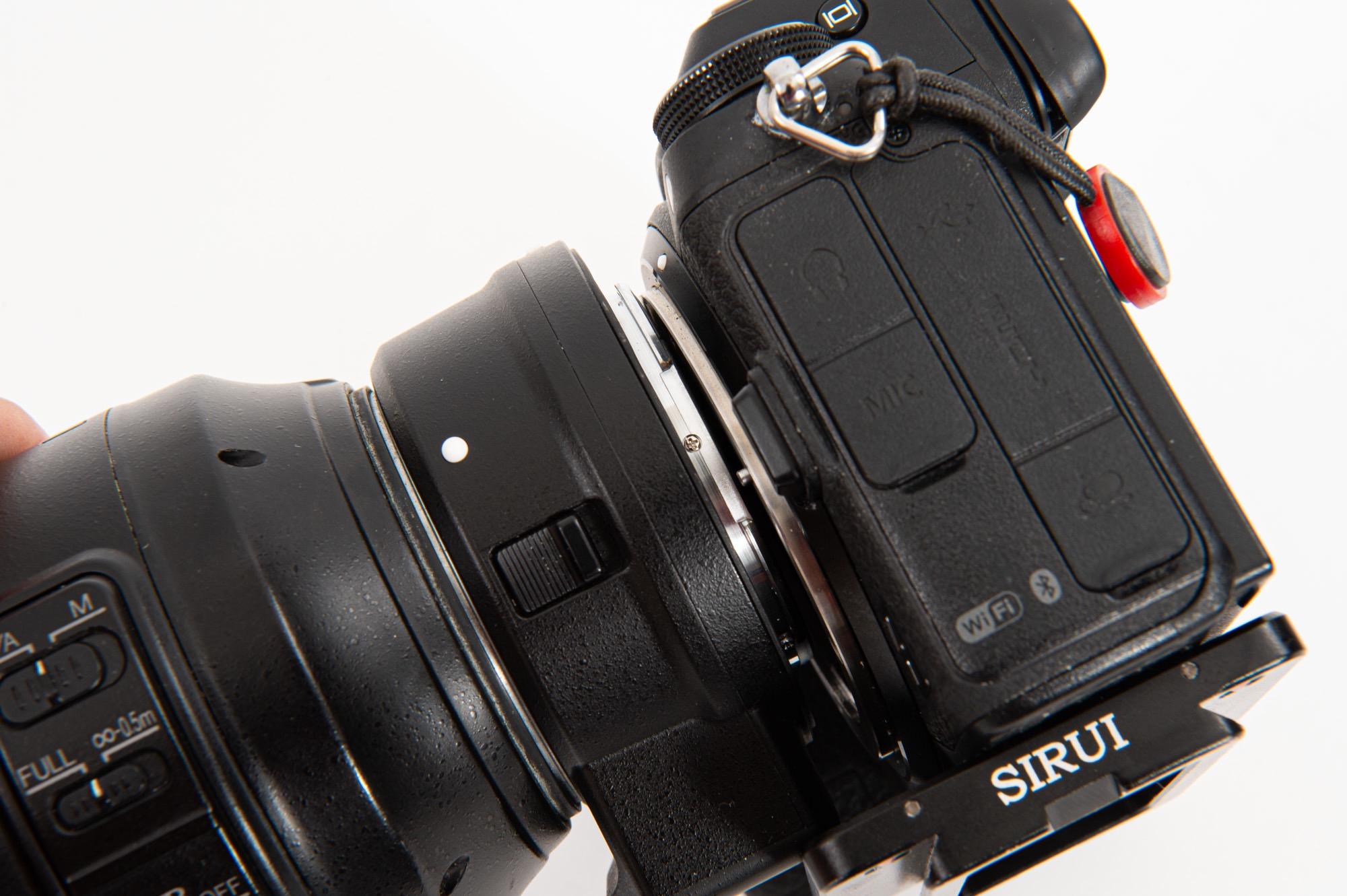 Nikon ZのクイックシューとFTZの干渉