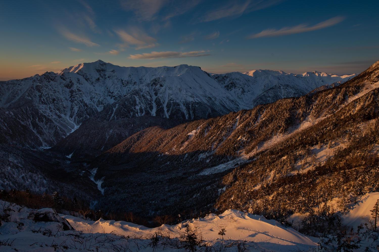 山岳写真の奥行き表現