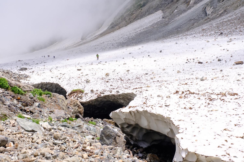 大雪渓の終わり