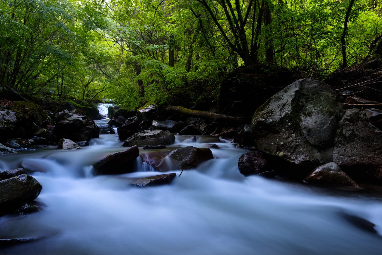X-H1 Velviaでの渓谷の撮影
