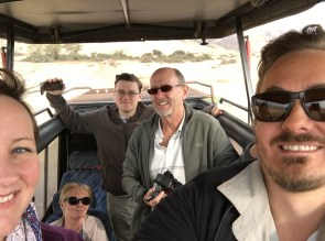Gjengen på safari
