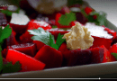 Beet salad with cheese