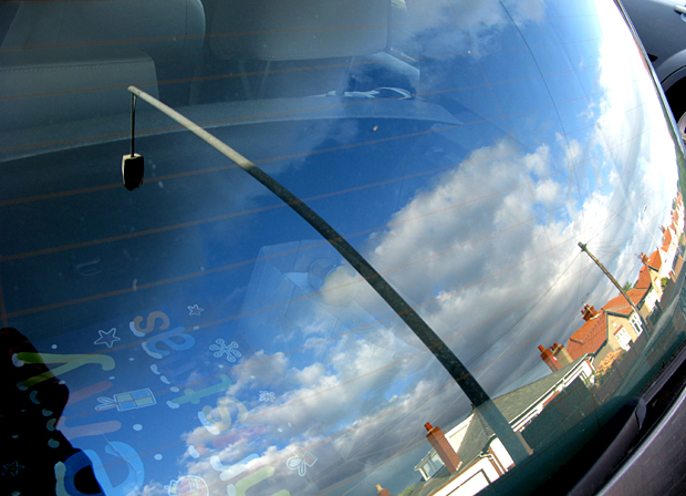 blyth lampost and street reflection
