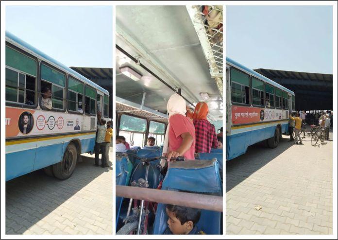 yamunanagar hulchul यमुनानगर हलचल buses for migrants labour to their destinations
