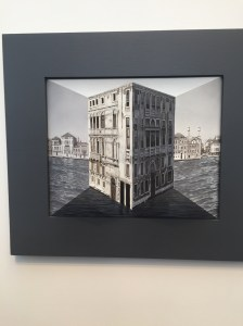 """""""Silver City"""", Patrick Hughes, £21,600 (3D oil painting)"""