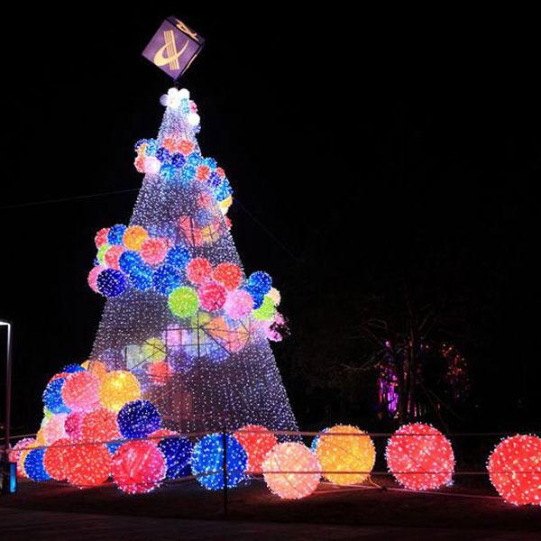 Modern Christmas Trees.Colorful Modern Christmas Trees With Light Balls Yandecor