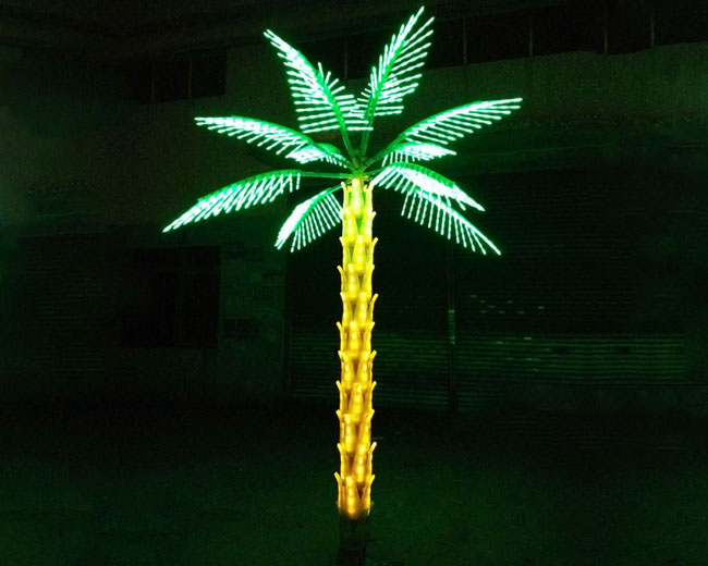 Commercial Outdoor Lighted Palm Trees, Outdoor Led Palm Tree